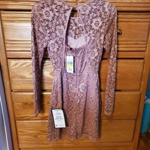Speechless Dresses - NWT Long sleeve lace dress open back